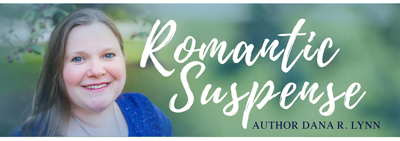"Photo of Dana R. Lynn with ""Romantic Suspense"" title"