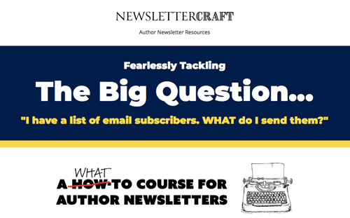 NewsletterCraft Course for Authors